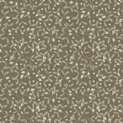 Lewis & Irene - Winter in Bluebell Wood - 6689 - Mistletoe on Brown - C43.2 - Cotton Fabric